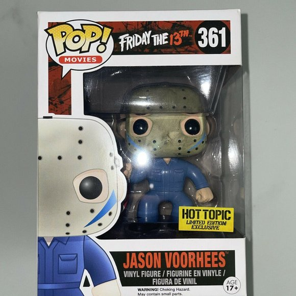 """Funko POP! Friday the 13th """"JASON VOORHEES"""" 361 Hot Topic Exclusive w/ PROTECTOR"""